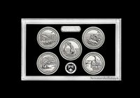 2014 S America the Beautiful National Parks ~ Mint Silver Proof Set in Lens Case