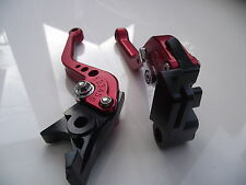Aprilia SHIVER/GT (07-16), CNC levers short red/chrome adjusters, F23/C23