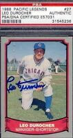 Leo Durocher Cubs Signed 1988 Pacific Psa/dna Autograph Authentic