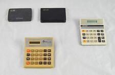 Lot of 2 Vintage Calculators Spell Checker & Sharp Memo Master El-6061  T5O34