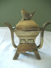 Brass incense burner  with koi fish