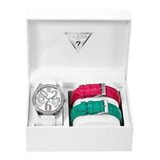 NEW GUESS SS LADY WATCH WHITE MAGENTA TURQUOISE STRAPS