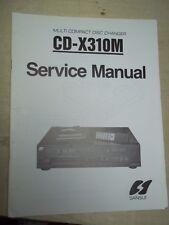 Sansui Service Manual~CD-X310M Compact Disc Player~Original