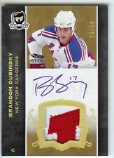 2007-08 THE CUP BRANDON DUBINSKY AUTO PATCH 26/54 GOLD RANGERS RC JERSEY RAINBOW
