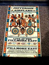 """Jefferson Airplane Fillmore poster, signed by all 6 members of  """"Classic"""" lineup"""