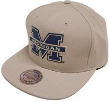 Mitchell & Ness Michigan Milo EU829 Tostado Gorra Béisbol NCAA Mens NEW