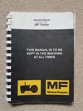 MASSEY FERGUSON 20F TRACTOR OPERATORS MANUAL