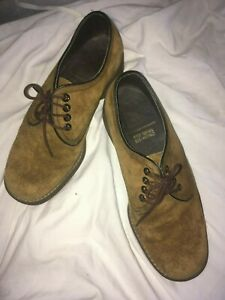 vintage mens shoes size 7 brown suede 60s/70s  mod style