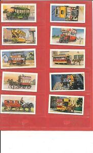 HITCHMAN'S TEA - BUSES AND TRAMS - 1966 - 10 CARDS - INCL.NO.1 & NO. 25