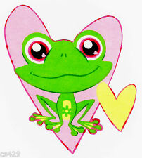 "6"" LITTLEST PET SHOP  FROG CHARACTER WALL SAFE FABRIC DECAL CUT OUT"