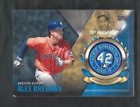 2017 Topps baseball card Alex Bregman Houston Astros Jackie Robinson Logo Patch