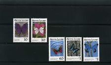 BUTTERFLIES OF SIERRA LEONE,-{5}   inscribed >> 1989