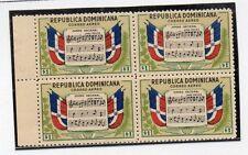 Republica Dominicana Musica Banderas Himno Nacional valor del año 1946 (DD-242)