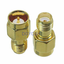 2pcs Conversion Adapter Slide-on SMA male NO SCREW to female RF connector quick