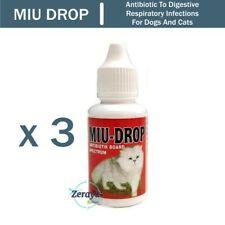 3 x 30ml MIUDROP Antibiotic Enrofloxacin For Cat and Dog
