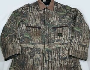 Vtg Liberty Rugged Outdoor Gear Camo Coveralls Large Tall LT Realtree Camouflage