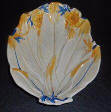 """VICTORIAN Art Nouveau circa 1900 Porcelain Leaf Shape Candy Dish 7-1/4"""" L 6"""" W"""