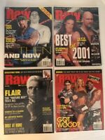Lot of 4 WWF Raw Magazine 2002 Jan Feb Mar Apr Undertaker Lita Flair Keibler WWE