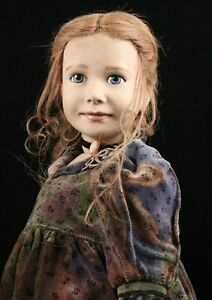 """Sigikid 22"""" Vinyl Doll """"GUDALA"""" Red Hair by German Gabriele Braun LTD 632/750"""