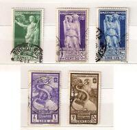 1938 AFRICA ORIENT. ITALIANA 5 val. AUGUSTO : POSTA AEREA, C.25 , C.50 , L.1,25