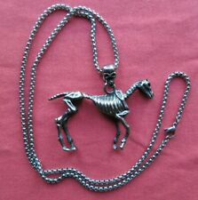 Mexico City Artist Delightful Day Of The Dead Silver Skeleton Horse Necklace