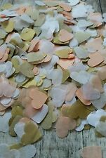 1300+ PEACH  WHITE GOLD HEARTS CONFETTI ROMANTIC WEDDING DECORATION/THROWING/ECO