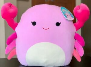 """Squishmallow Cailey The Pink Crab 14"""" X-LARGE Summer 2021 NWT!"""
