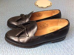 ALFRED SARGENT for SHIPTON & HENEAGE black WINDSOR Tassel Loafers UK 8.5 EX
