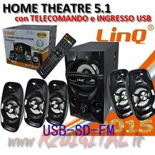 CASSE A3309 DOLBY SURROUND 5.1 USB HOME THEATER TELECOMANDO HD HIFI TV COMPUTER