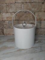 Vintage Mid Century 1960's Georges Briard White Ice Bucket Retro Classic