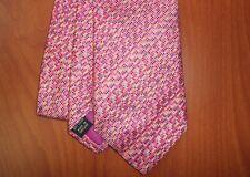 Duchamp London Pink Confetti Pattern Hand Made Pure Silk Tie ~NEW~ England
