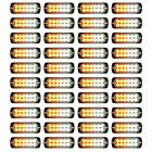 4xstrobe Amber 12-led Car Truck Emergency Beacon Warning Hazard Flash Light Bars