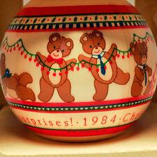 Hallmark - Grandchild's 3rd Christmas - Satin Ball 1984 - Keepsake Ornament