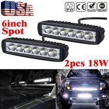 2PC 118W Spotlight LED Light Work Bar Lamp Driving Fog Offroad SUV 4WD Car Truck