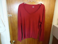 """Womens A.N.A.Size P X L Maroon Long Sleeve Top """" BEAUTIFUL TOP """""""