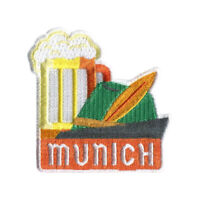 Munich Germany Iron On Travel Patch - Oktoberfest