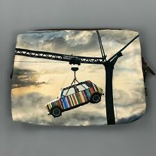 PAUL SMITH Striped Mini Cooper Printed Canvas Clutch Pouch Laptop Bag