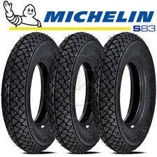 3 PNEUMATICI GOMME MICHELIN S83 100.90-10 56J PIAGGIO APE FL - FL2 50 1989-1995