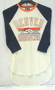 Denver Broncos Women's M GIII 4her Hang Time 3/4 Sleeve Tee Shirt 016