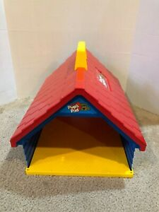 Vintage Pound Puppies Pup's Pad Playset 1986 Tonka Dog House Carrying Case
