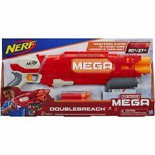 Nerf N-Strike Mega DOUBLEBREACH Blaster BIG Double Barrel Gun & 6 Mega Darts NIB