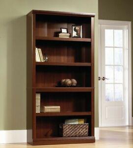 Sauder 102795 Heritage Hill 5 Shelves Cherry Finish Bookcase