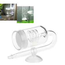 Aquarium CO2 Diffuser Check Valve U Shape Glass Tube Suction Cup For Tube