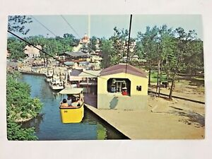 The Frontier Lift Aerial Ride Funway Cedar Point Sandusky Ohio Postcard Unposted