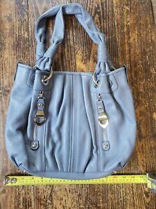 B. Makowsky Leather Gray Shoulder Bag - Purse Handbag - Great Shape!