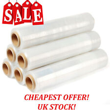 More details for strong rolls clear pallet stretch shrink wrap cast parcel packing cling film