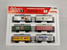 Marklin HO #4400C Collector's Series no. 3,  6 Cars Breweries of Switzerland
