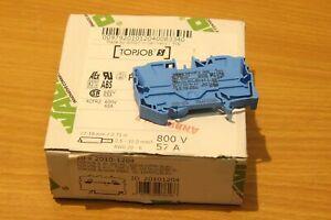 3x WAGO TOPJOB'S 2010-1204 - Bornes de passage 2 CONDUCTEURS 10.00 MM2 , Bleu