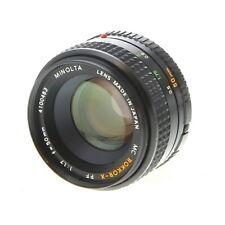 Minolta 50mm F/1.7 Rokkor-X PF MC Mount Manual Focus Lens {55} - UG