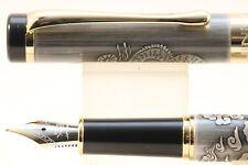 Jinhao No. 5000 Special Edition Antique Grey Dragon Fine Fountain Pen, GT